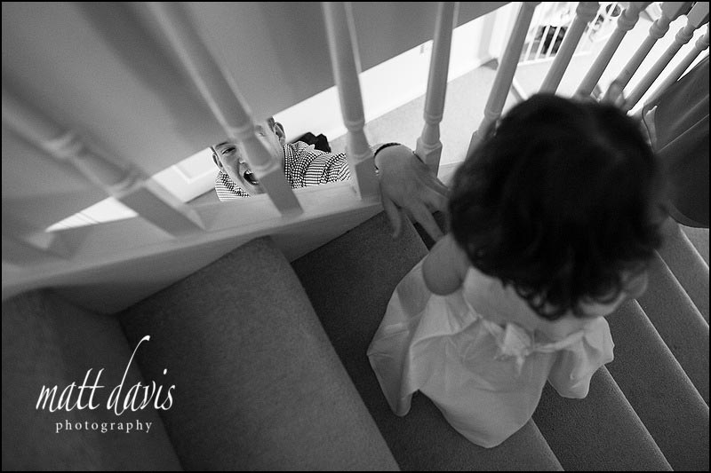 Documentary wedding photography at brides home in Oxfordshire