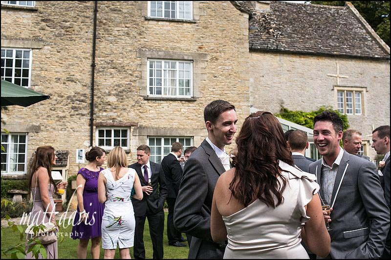 Wedding guests outside Friars Court