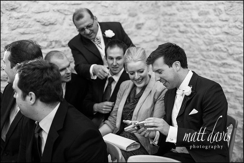 Reportage wedding photographer at Kingscote Barn