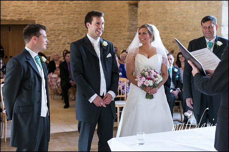 Kingscote Barn wedding photographer Matt Davis took this photo
