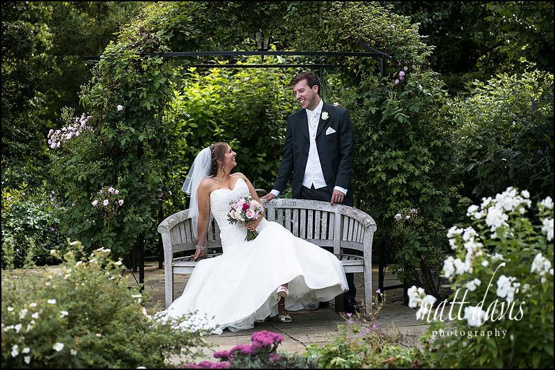 Classic wedding photo at Kingscote Barn by photographer Matt Davis