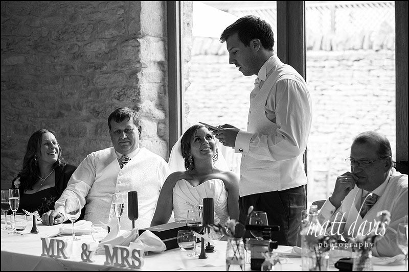 Black & White wedding photos at Kingscote Barn
