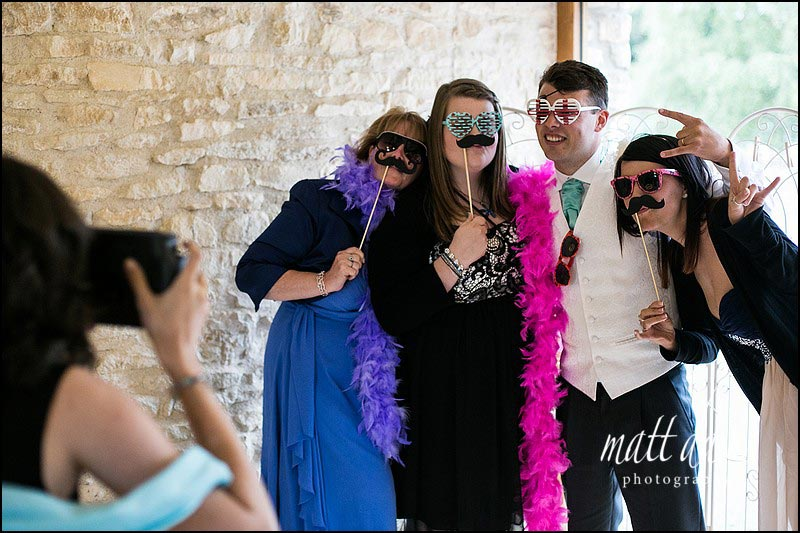 Fun wedding props to dress up guests
