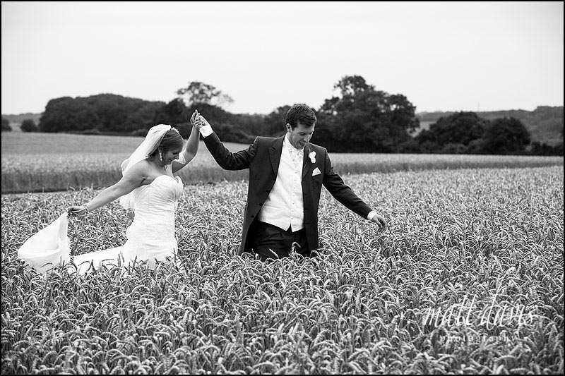 Photos taken in the corn field at Kingscote Barn