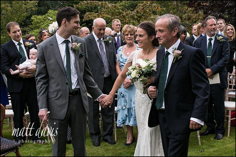 Outdoor Wedding ceremony South Wales