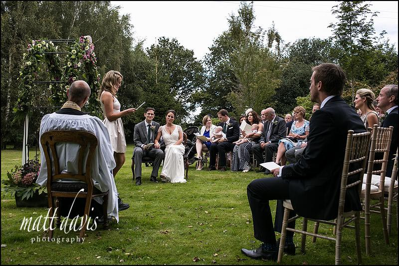 Outdoor humanist wedding ceremony in South Wales