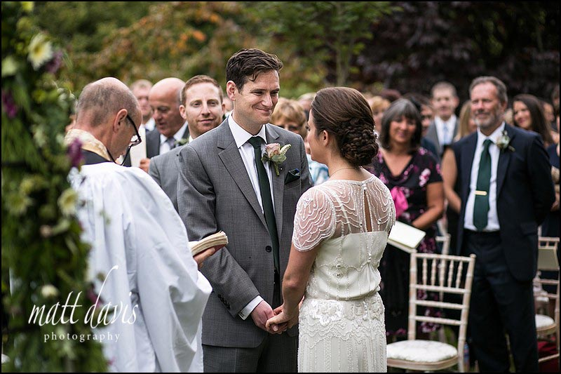 outdoor Wedding ceremony photography in South Wales