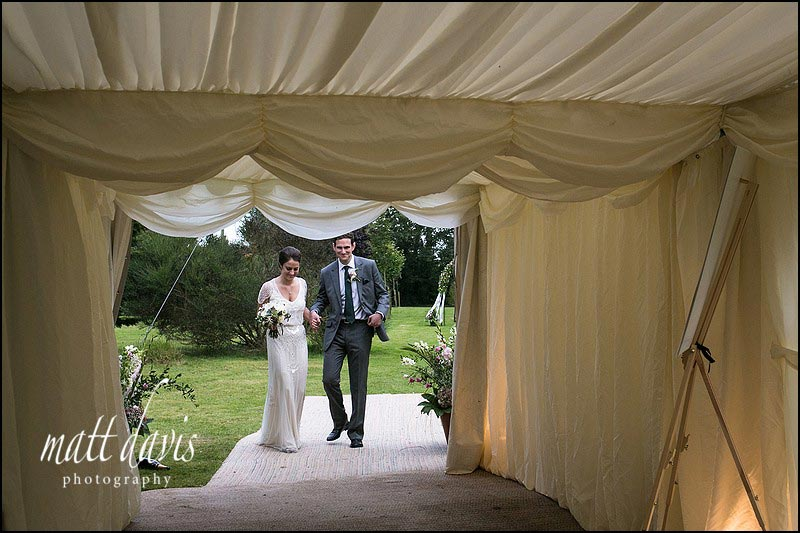 photography in a wedding marquee