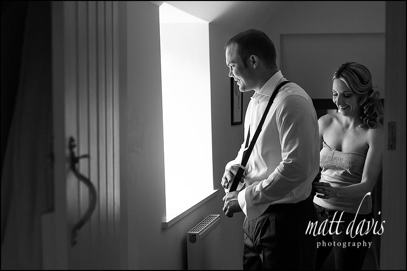 B&W Documentary wedding photographer Gloucestershire