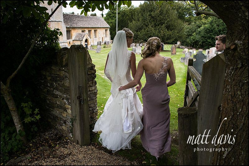 Wedding photo at St Andrew's Church Naunton, Cheltenham