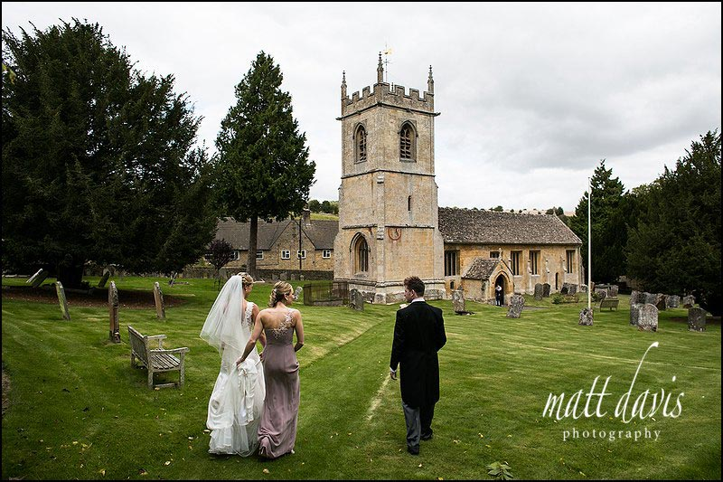 Wedding at St Andrew's Church, Naunton near Cheltenham.