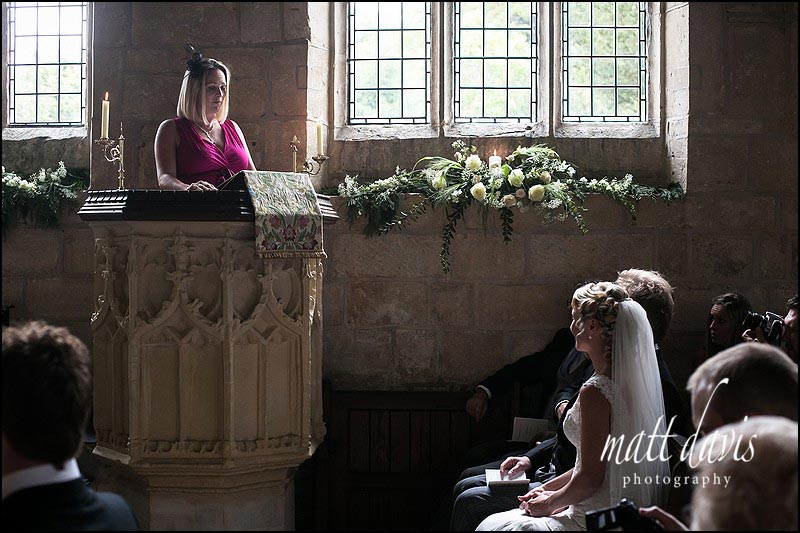 Wedding photography inside Naunton Church, Gloucestershire