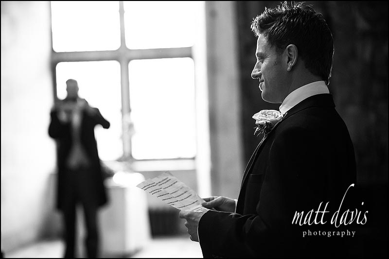 speeches Wedding photography at Berkeley Castle