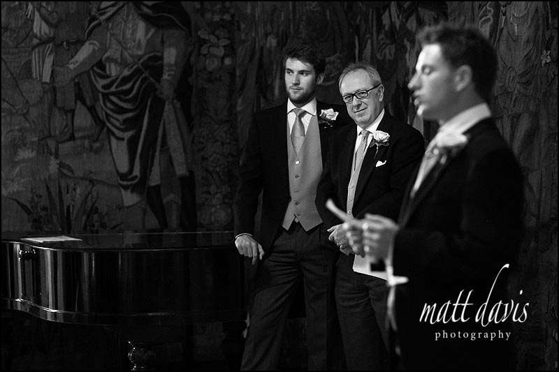 Wedding photography at Berkeley Castle during speeches