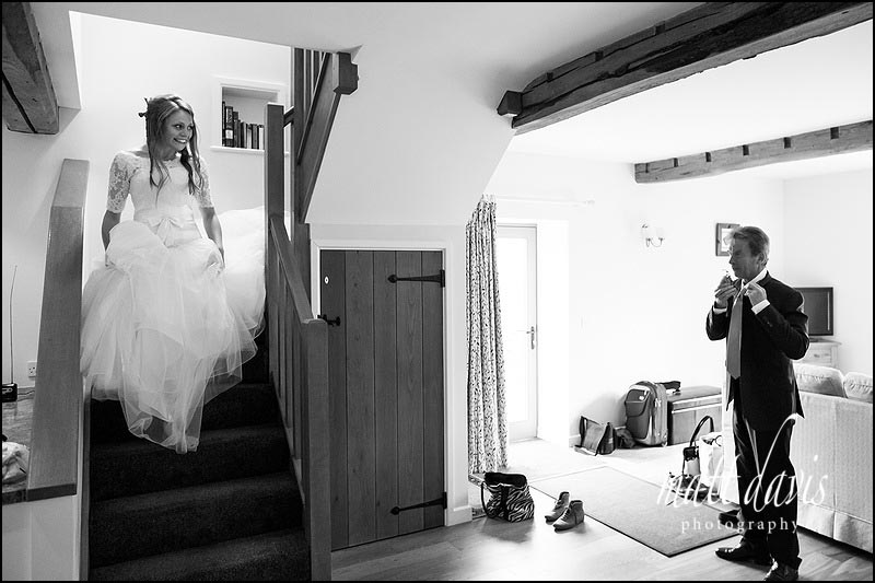Black & White documentary wedding photographer Kingscote Barn