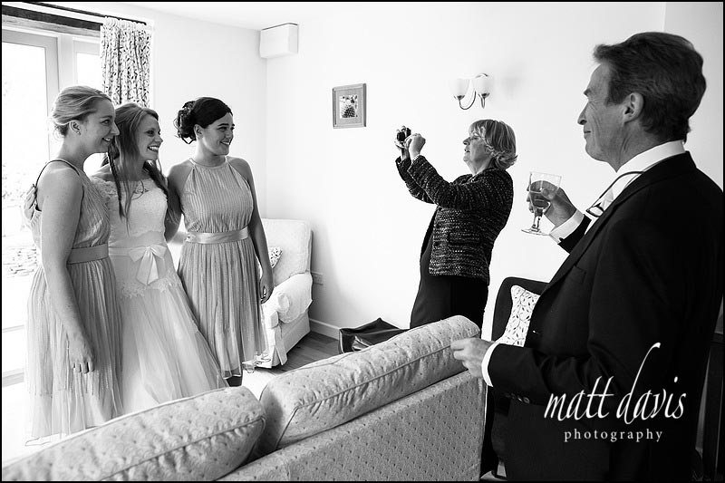 Black & White documentary wedding photos at Kingscote Barn
