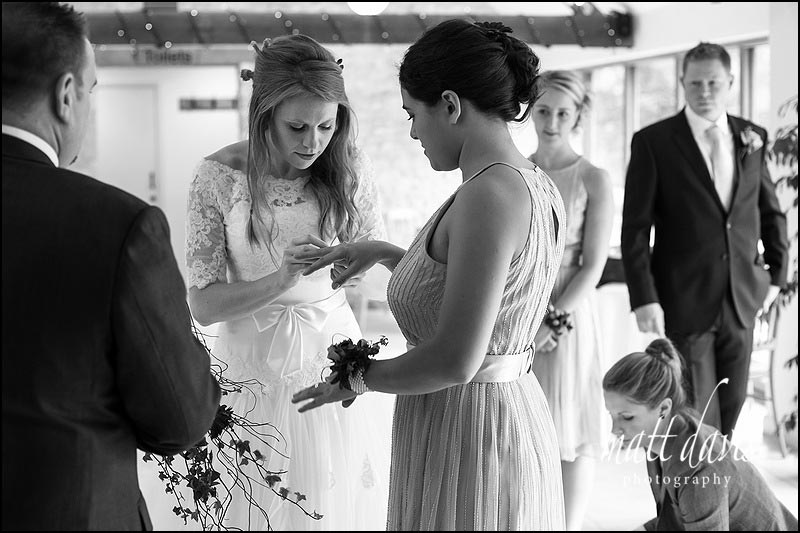 Documentary wedding photography by Matt Davis at Kingscote Barn