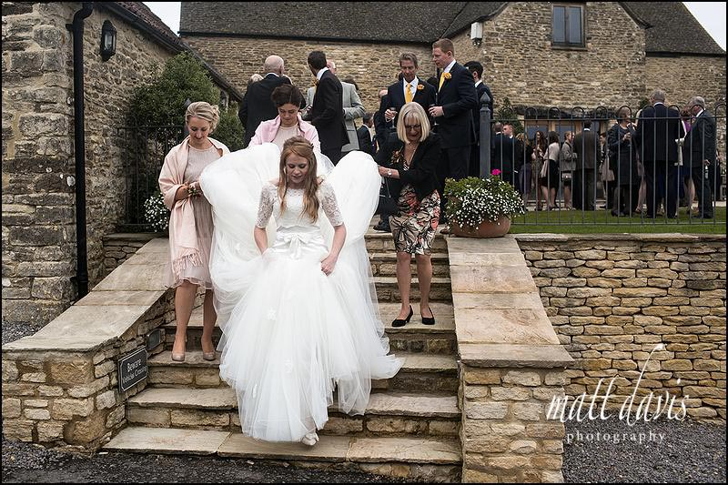 Documentary wedding photos at Kingscote Barn, Gloucestershire