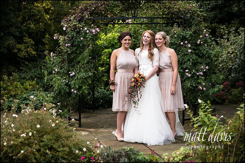 Group wedding photos at Kingscote Barn, Gloucestershire