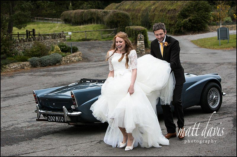 natural wedding photography at Kingscote Barn by photographer Matt Davis