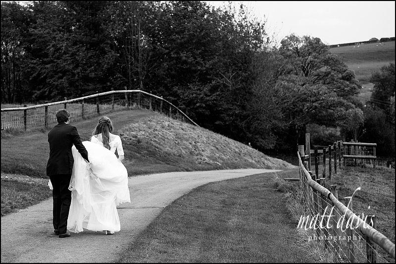 Natural black & white wedding photos at Kingscote Barn