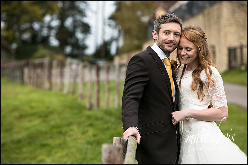 couple portraits at Kingscote Barn wedding