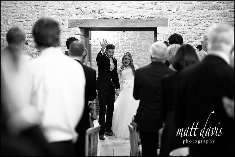 Natural wedding photography at Kingscote Barn