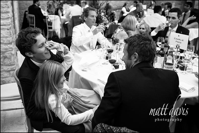 documentary wedding photography Kingscote Barn