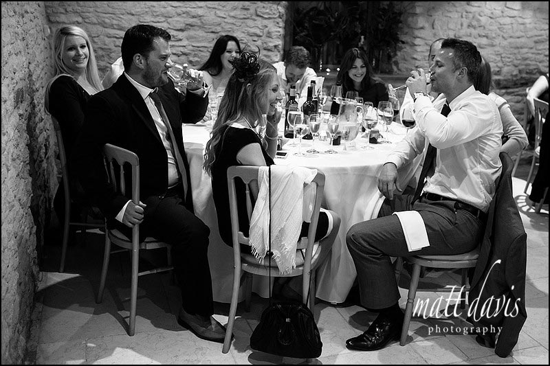 wedding guests playing drinking games at a wedding