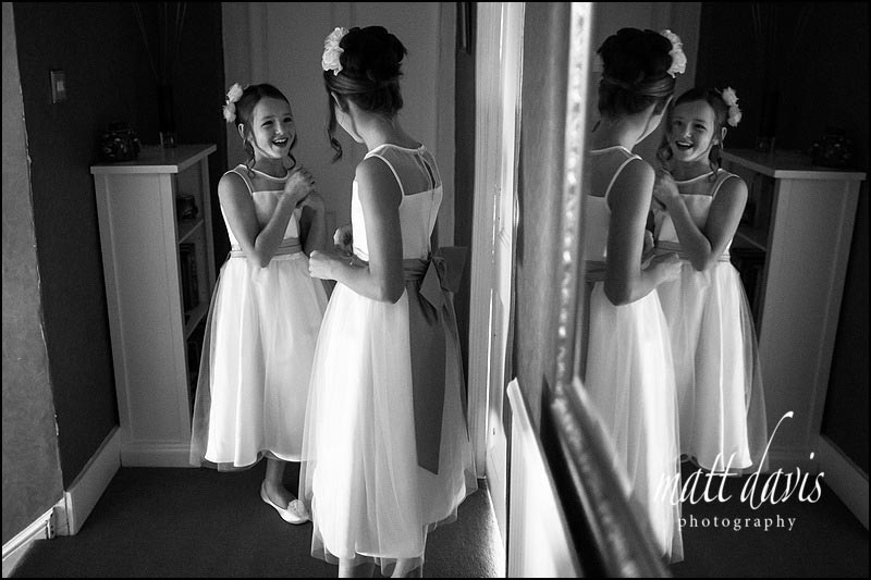 Bridesmaids in white dresses age 9 and 10