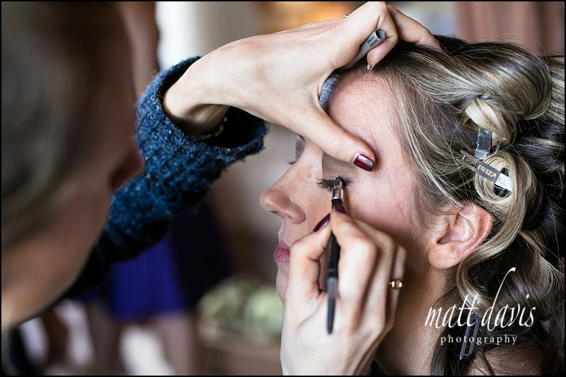 Wedding make up photos at Clearwell Castle