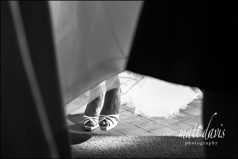 Jimmy Choo wedding shoe photo in a documentary style