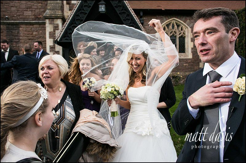 Relaxed wedding photographer Matt Davis photographed the wedding of Terry & Judith at Clearwell Church