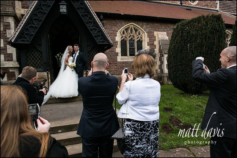 Wedding photos at St Peter's church, Clearwell, Gloucestershire