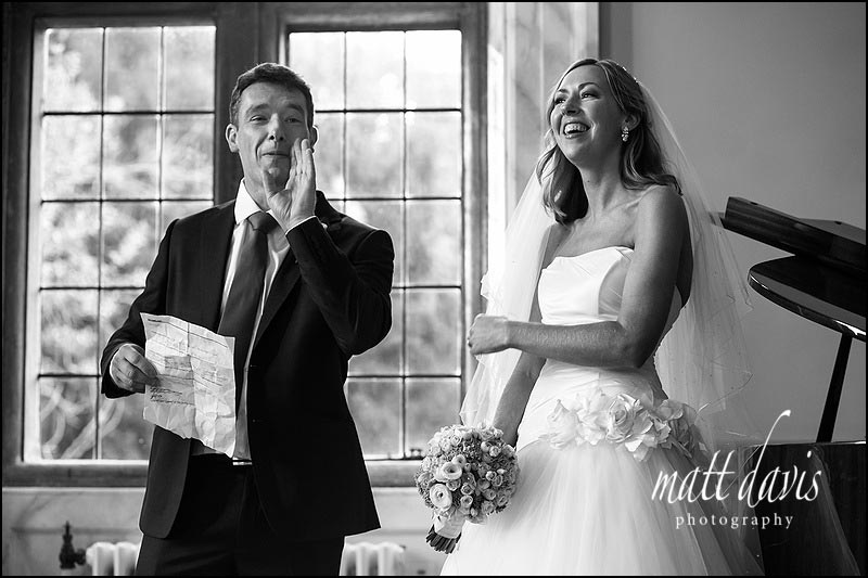 speeches at Clearwell Castle by wedding photographer Matt Davis