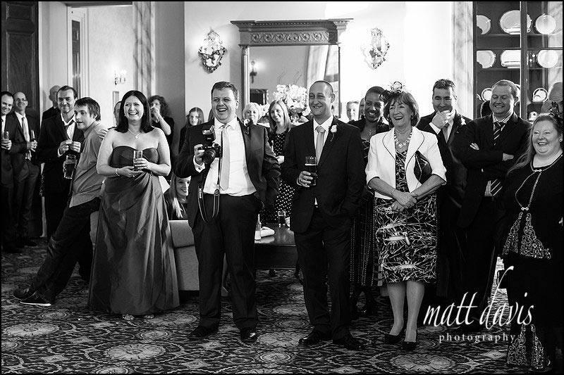 photos of wedding guests at Clearwell Castle