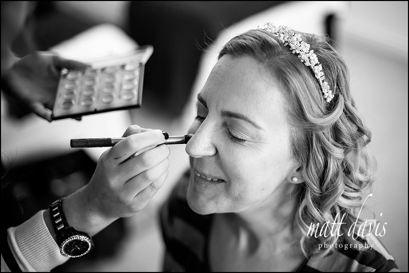 wedding makeup at Droughton Cottages near Tetbury