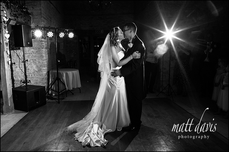 Kingscote Barn wedding first dance photos