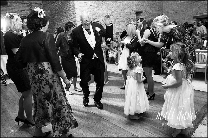 Kingscote Barn wedding photos on the dance floor