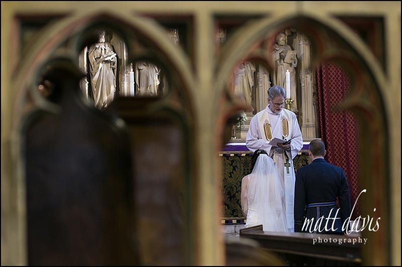 wedding at Berkeley Church, Gloucestershire