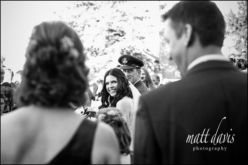 Stunning black and white wedding photos by Gloucestershire photographer Matt Davis