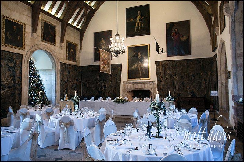 Christmas winter weddings at Berkeley Castle
