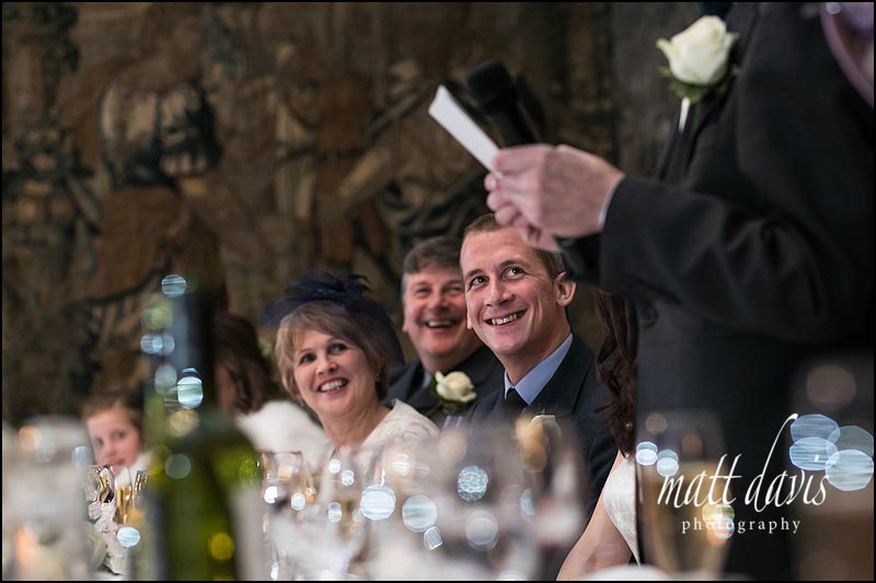 wedding photos of speeches at Berkeley Castle