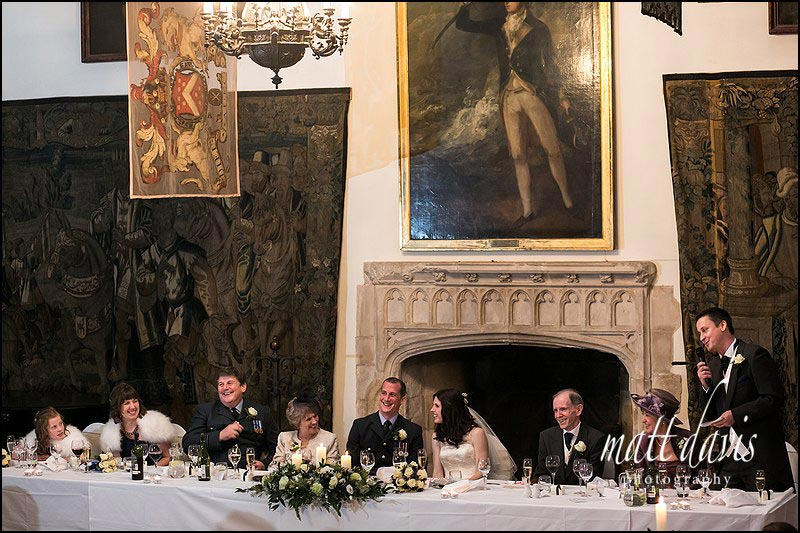 wedding speeches at Berkeley Castle
