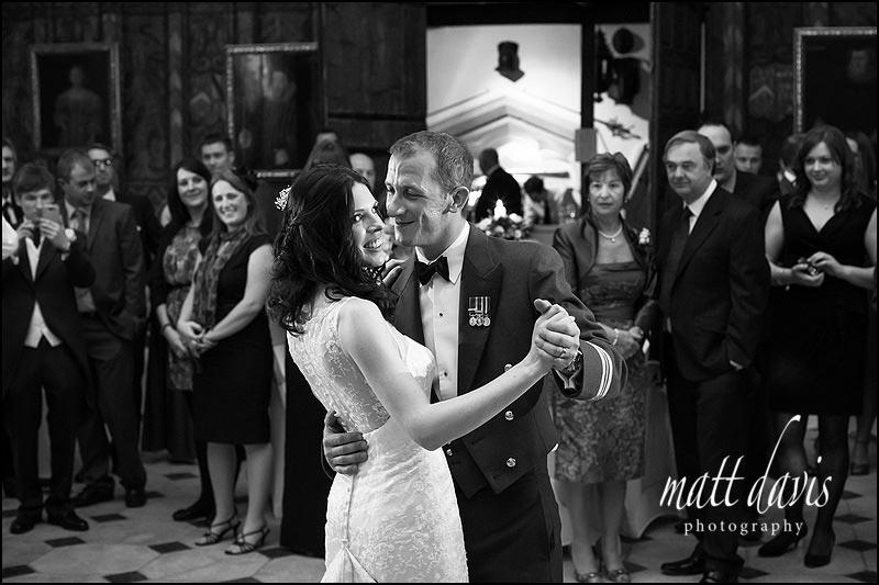 Berkeley Castle winter wedding photos on the dancefloor