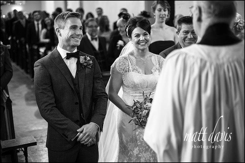 bride and groom at St. Leonard's Church, Stanton Fitzwarren