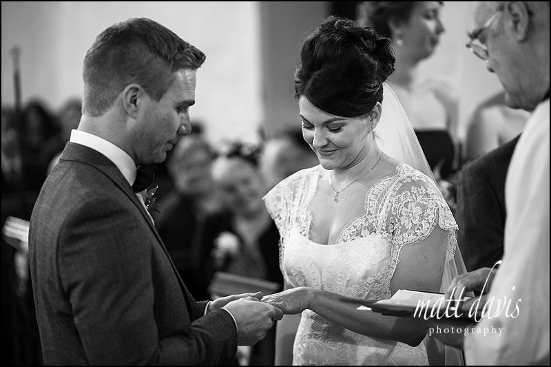 Wedding ring exchange at St. Leonard's Church, Stanton Fitzwarren