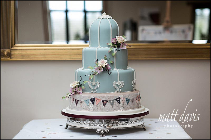 Unique wedding cake with vintage designer theme at Stanton House Hotel