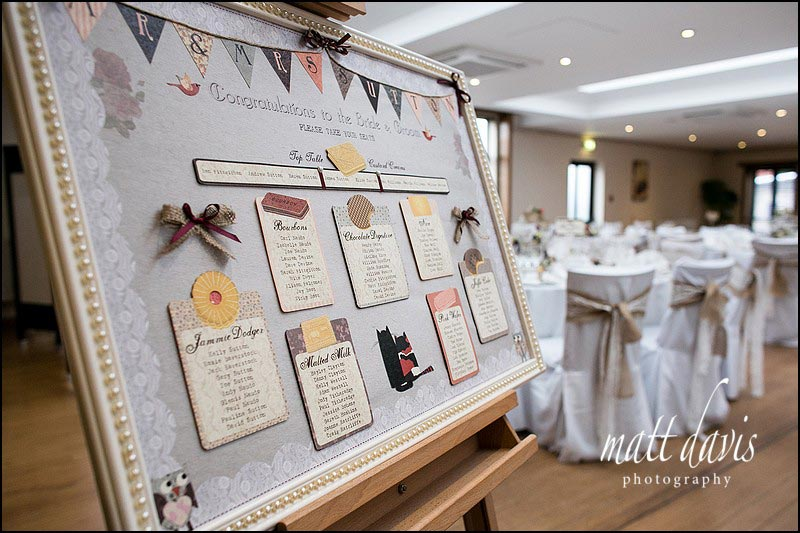 Table layout at Stanton House hotel wedding