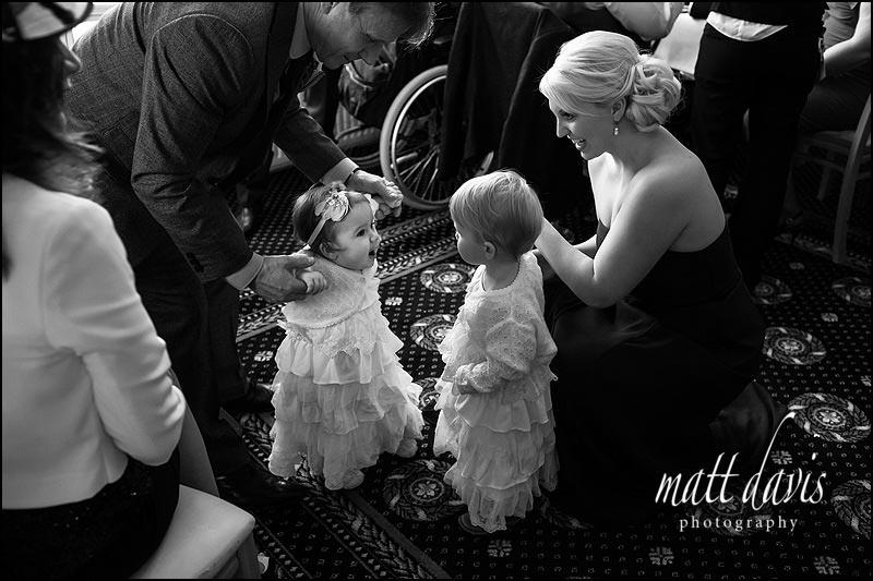 Small bridesmaids at a wedding